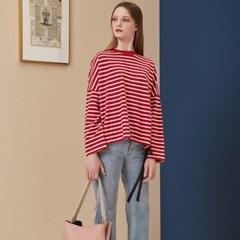 [STELLA7] Stripe Long Sleeve TS(Red)_(515189)