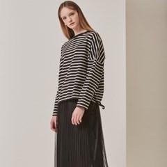 [STELLA7] Stripe Long Sleeve TS(Black)_(515190)