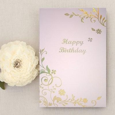 생일카드-갤럭시 펄지 핑크골드