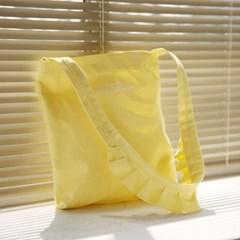 ruffle canvas bag_yellow