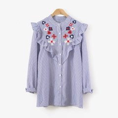 pretty Frill BLOUSE (2-color)