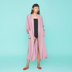 Pink Flower Maxi Robe