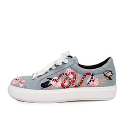 kami et muse Flower embroidery strap sneakers_KM17s075