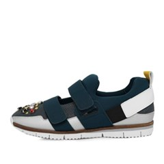 kami et muse Beads top velcro strap sneakers_KM17s074