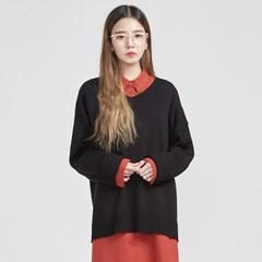 both side V-neck boxy knit (5 colors)_(519811)
