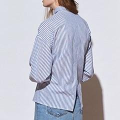 [유라고]스트라이프 슬릿 셔츠