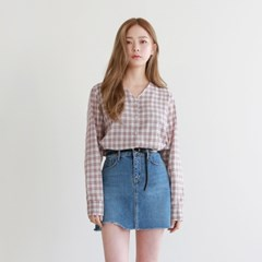 Flare sleeve pattern blouse