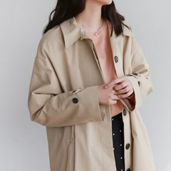 Single button point trench coat
