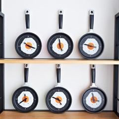 후라이팬 벽시계 (저소음, 건전지 포함)