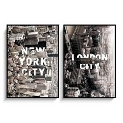 북유럽포스터 인테리어액자 NEWYORK 뉴욕, LONDON 런던