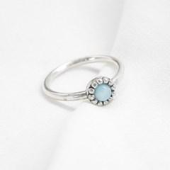[925silver] skyblue gemstone ring