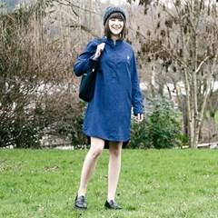 OLIVIA WOMENS SHIRT DRESS CACTUS - BLUE
