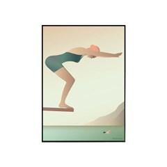 EPOK- 스위밍 (Swimming - poster) 50*70 framed