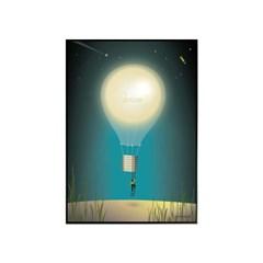 EPOK- 꿈꾸는 달(Moon Dream) 50*70 framed