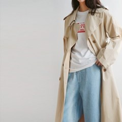 Basic clean trench coat