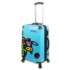 Basdera 소캐릭터 카우(Cow) 블루(Blue)-24형 캐리어 여행가방
