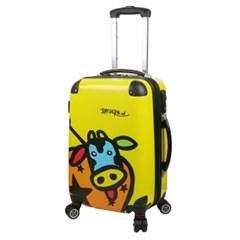 Basdera 소캐릭터 카우(Cow) 옐로우(Yellow)-20형 캐리어 여행가방