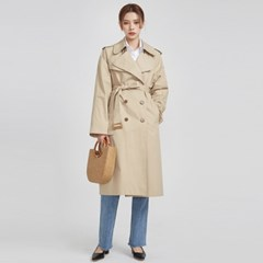wide sleeve boxy fit trench coat (2 colors)_(529066)