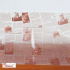 [대용량] 유산지 쟁반깔지 초코 뉴스페이퍼 - 250장