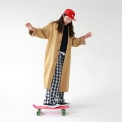 Overfit unisex single coat