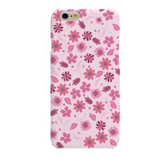 Pink BG Simple Flower (HF-129B) Hard Case