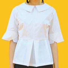 쪽지 칼라 블라우스 / collar detail blouse