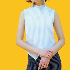 쪽지 하이넥 블라우스 / high necked collar blouse
