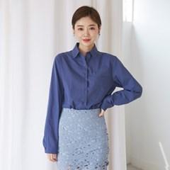 [마이블린] 베이직 원 포켓 셔츠(4color)_(482521)
