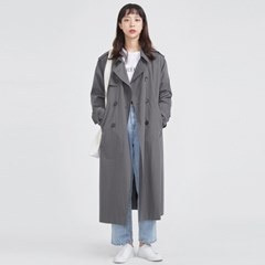 FRESH MORE over trench coat ( CHARCOAL )_(568558)