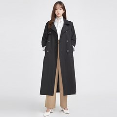 FRESH MORE over trench coat ( BLACK )_(568559)