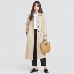 light simple single trench coat (2 colors)_(569011)