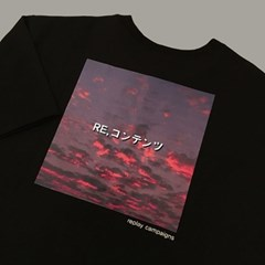 black replay campaign 1/2 tee pink