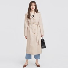 5-button strap long coat (2 colors)_(569370)