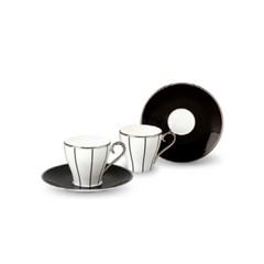 [한국도자기] 임페리얼블랙 커피잔 세트 (2인조)_(1097475)