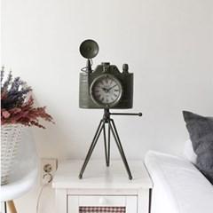 카메라 빈티지 시계-그린