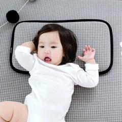 코니테일 3D 에어 필로우 - 그레이체크 (아기쿨베개)