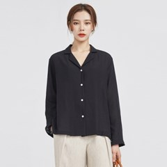 V-collar tidy blouse (2 colors)_(572628)