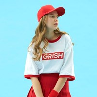 GRISH Signature T-SHIRT-(RED)