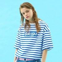GRISH STRIPE T-SHIRT-(BLUE