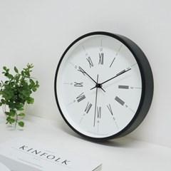 모던무소음벽시계(블랙)