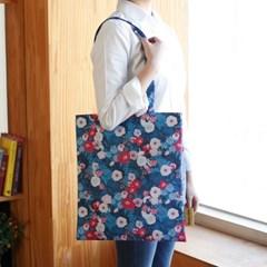 designer eco bag_ 풀블로운플라워 블루 (독점디자인)