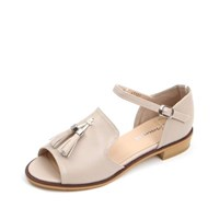kami et muse Gold ring tessle strap flat sandals_KM17s144