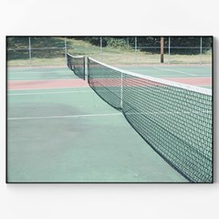 메탈 빈티지 레트로 사진 포토 액자 테니스 코트