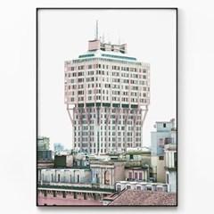 메탈 빈티지 사진 포스터 액자 The Torre Velasca