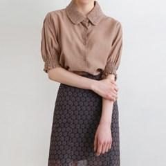 Round collar point blouse