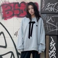 [Hello Kitty] Ribbon Sweatshirt (Melange Grey)_(529001)