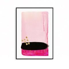 패브릭포스터 추상화 거실 인테리어 핑크블랙 A2,A1