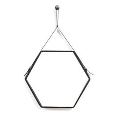 클렙튼 육각 스트랩거울 HEXA BLACK L (후크증정)