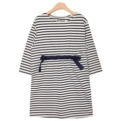STRIPE EASY DRESS (IVORY)_(580013)