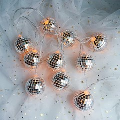 Aloha Mirrorball String Lamp